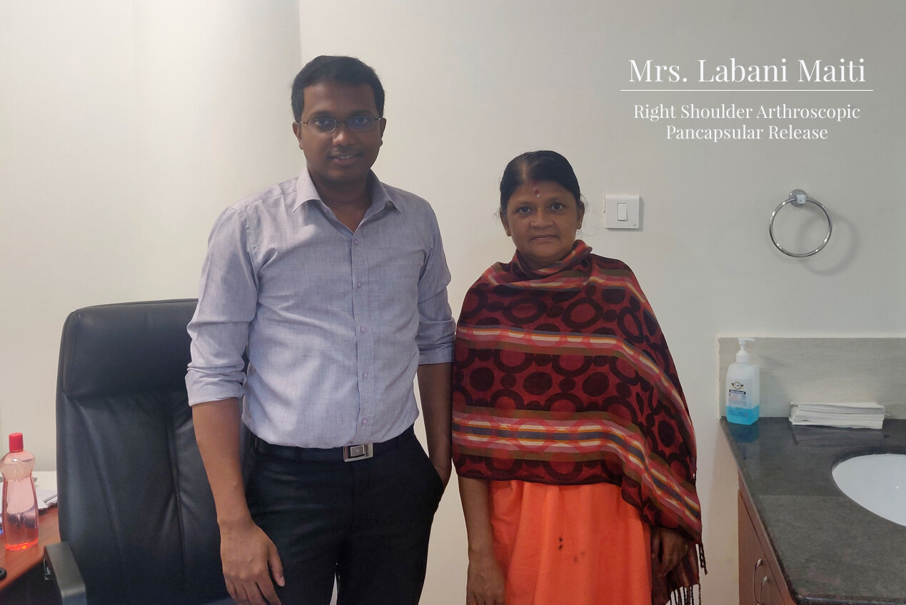 Mrs. Labani Maiti (Kolkata) - Right Shoulder Arthroscopic Pancapsular Release