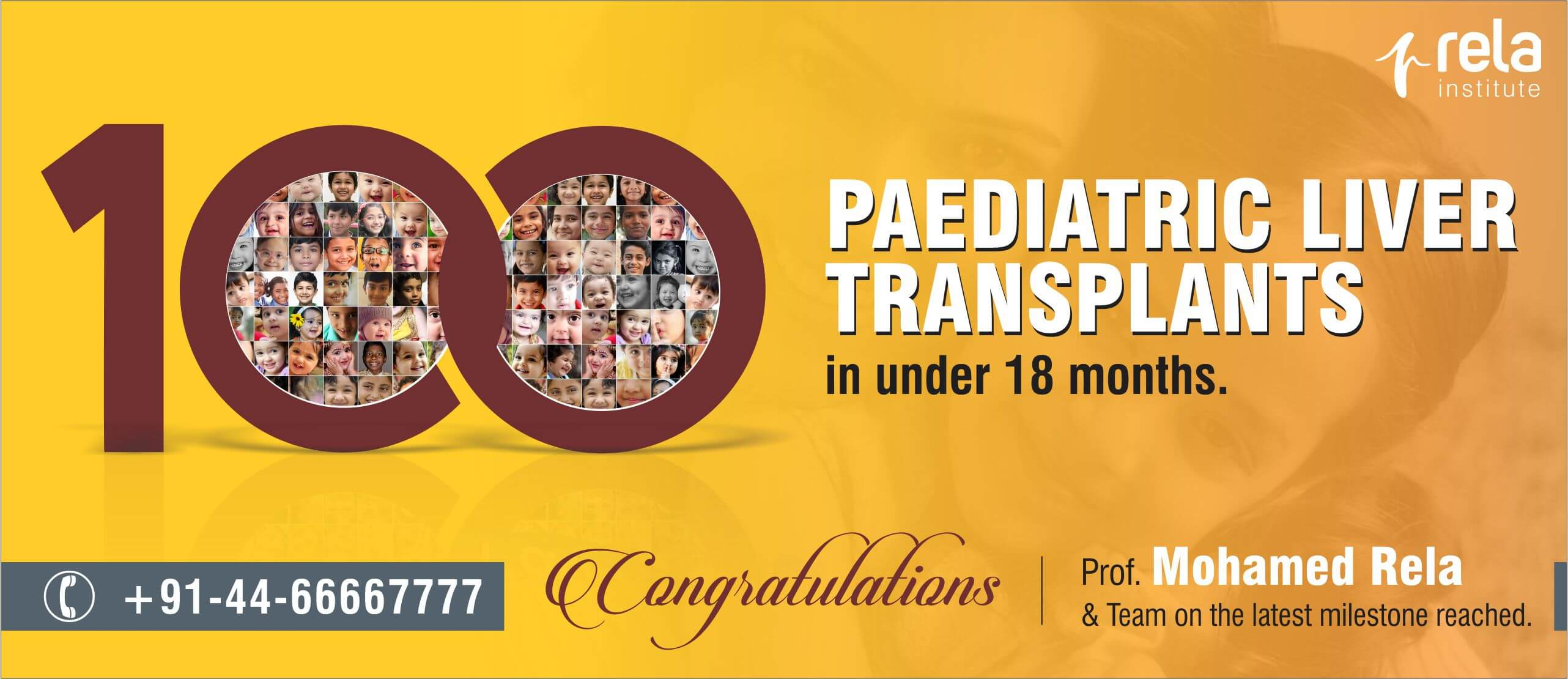 100 Paediatric Liver Transplants